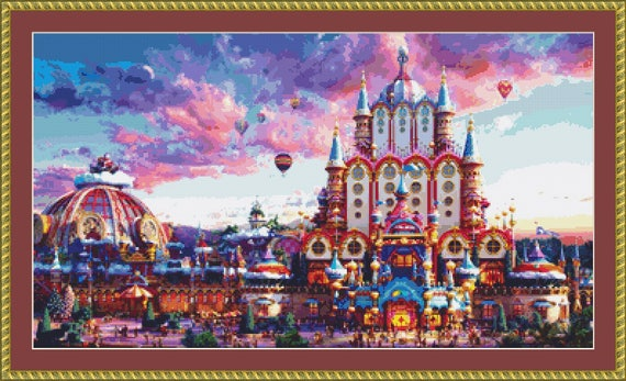 Fairy Tale Castle Cross Stitch Pattern /Digital PDF Files /Instant downloadable