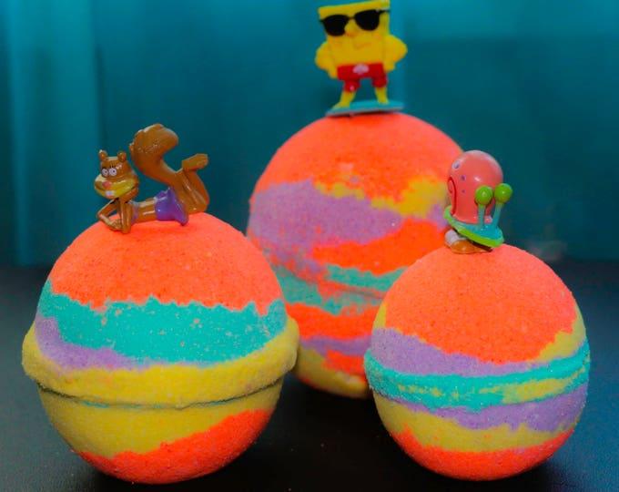 Sponge Bob Inspired Bath Bomb Crazy Tye-Dye Favor