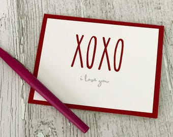 Valentine's Day Card | Love Card | XOXO Card | Rae Dunn Inspired