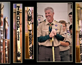 scout leader gift - scoutmaster gift - Troop leader gift, Retirement gift,hiking stick