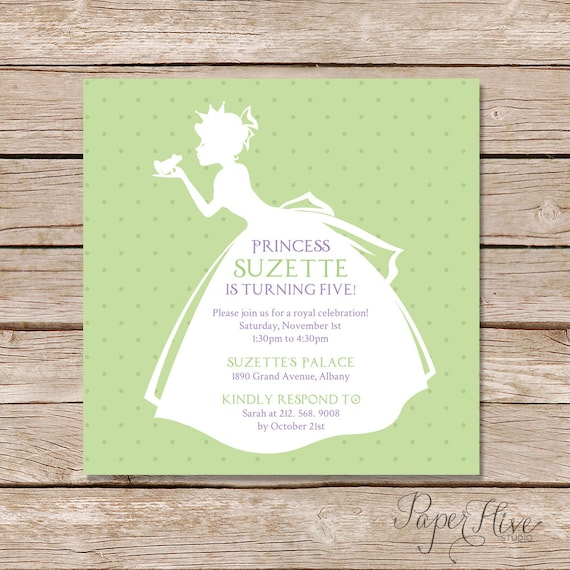 Princess And The Frog Party Invitation