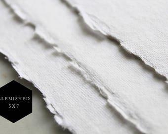"BLEMISHED 5x7"" Handmade Cotton Rag Paper"