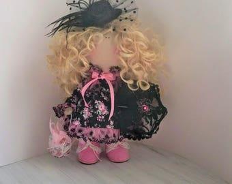 Art dollFabric doll Tilda doll Cloth doll Textile doll Rag doll Baby doll Interior doll Decor doll Handmade doll Gift Nursery doll Doll
