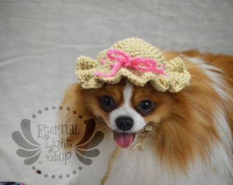 Pet Sun Hat Beanie (XS-XL) Any Colors