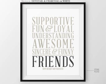 Christmas Gift for Best Friend Gift for Friend Long Distance BFF Gift for Friends Birthday Gift Maid of Honor Gift Bridal Party Bridesmaid
