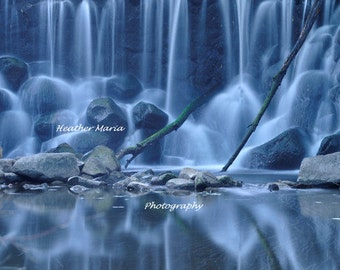 "Ethereal Twilight waterfall reflection, titled ""Ghostly"" 10x15 fine art photography print"