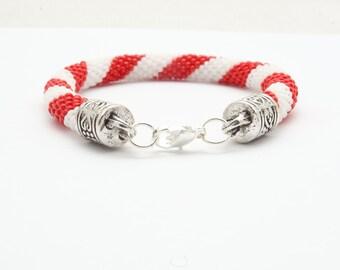 Bead crochet Rope, beaded bracelet, rope bracelet