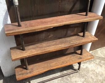 Reclaimed Industrial Shelf,Steampunk Shelf, Wall Shelf, Industrial Decor,  Steampunk Decor,