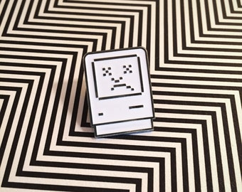 Sad Mac Soft Enamel Pin