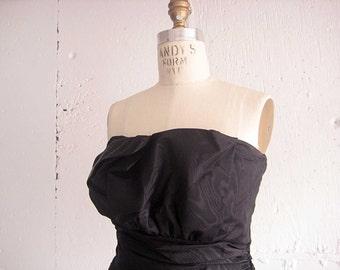Vintage 80s Black Party Dress