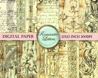 Digital paper pack  digital scrapbook background paper vintage Steampunk digital printable paper decoupage paper digital scrapbooking paper