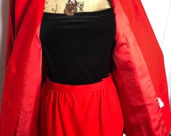 Vintage Pendleton 1960's Wool dress suit Wool skirt and blazer