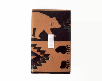 Woodland Switch Plate Cover - Bear Light Switch Cover - Gender Neutral Nursery