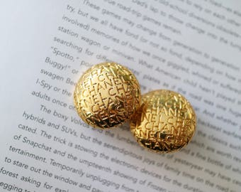 Authentic Vintage Chanel Round Clip-on Earrings