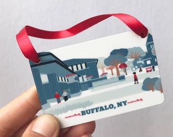 darwin martin house, buffalo ny, ornament, buffalo ny gifts, buffalo new york, parkside buffalo ny, buffalo ny gift