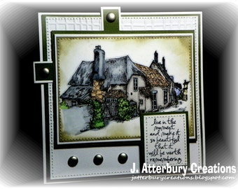 OOAK---Moment Worth Rembering Card + Matching Envelope Box