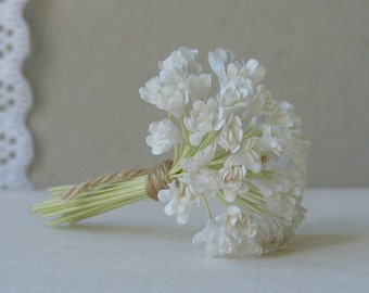 5 mm   30  White  Paper Flowers , Gypsophila  Paper Flowers