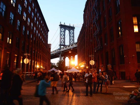 Dumbo Street Party at Sunset