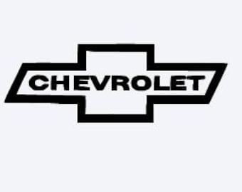 Chevy vinyl decal sticker, car decal, auto accessories, mug decal, chevrolet decal, chevrolet car sticker