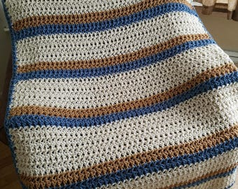 Worsted Weight Wool Crochet Throw Blanket