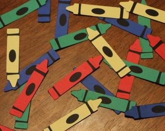 Customizable Crayon Confetti- Set of 60- Crayon Birthday Party