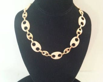 ON SALE Vintage Monet Necklace * Signed Vintage Jewelry * Mad Men Mod * Vintage Statement Jewelry