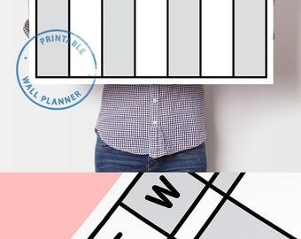 Weekly Planner Printable A4 Weekly Planner Weekly Calendar Printable Minimalist Planner Undated Planner Filofax A4 Printable Calendar