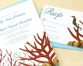 Coral Reef Invitations for your Beach Wedding