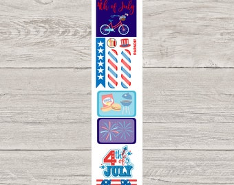 DECODAYS Fourth of July Planner Stickers