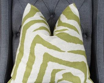 Zebra Print Pillow, Pillow Cover, Decorative Pillow, Throw Pillow, Toss Pillow, Sofa Pillow, Home Furnishing, Home Decor, Made in USA