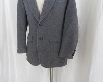 Vintage mens 70s suit jacket, sports jacket, sportcoat,  blazer, gray camel hair wool size 38
