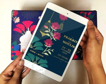 Digital Save the Date - Tropical Destination Wedding Collection