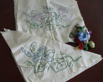 Vintage Hand Embroidered Quilt Blocks