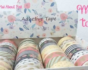 Peach and Mint Washi adhesive tape