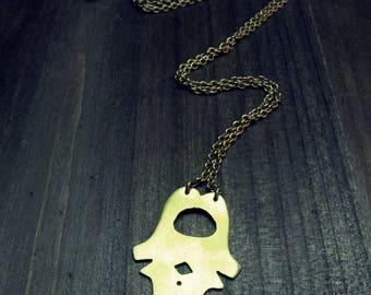 Vertebrae Bones Necklace // Recycled Brass