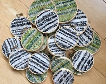 Wall Hanging Embroidery Hoop Woven Ornament GREEN