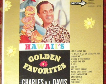 Charles K. L. Davis ~ Hawaii's Golden Favorites Vintage LP Record Decca Stereo TESTED