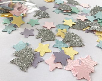 Unicorn & Stars Confetti - 100 pieces