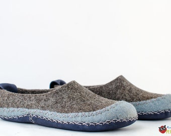 "Women's felted slippers ""Squaw"" 