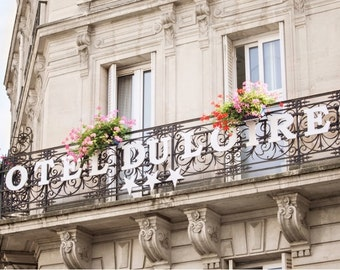 Paris Photography, Canvas Gallery Wrap, Marais Hotel du Loiret Canvas Print, 16x24 to 32x48 inches Large Wall Art
