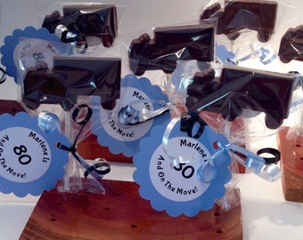 12 Chocolate Truck Lollipops Birthday Party Boy Favors delivery truck