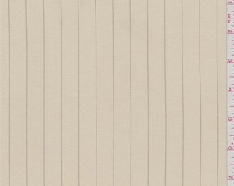 Buttercream Yellow Stripe Suiting, Fabric By The Yard