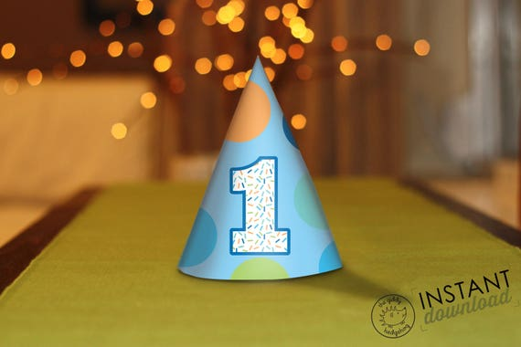 printable diy boy first birthday party hats one first birthday