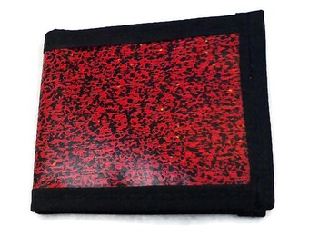 Black and red pixel unisex wallet