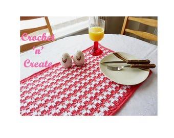 Large Placemat Crochet Pattern (DOWNLOAD) CNC54