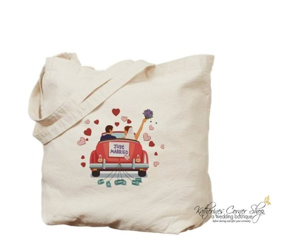 Just Married Personalized Tote