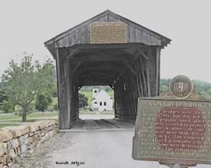 Kentucky, Goddard Covered Bridge, Flemingsburg, Giclee Print on Fine Art Paper or Canvas