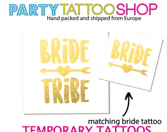 Bachelorette party tattoo, bachelorette favors, bachelorette tattoo, tat tattoos tattie tat, boho bride, temporary tattoo, bride tribe