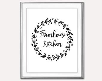 SALE-Farmhouse Kitchen- Digital Print- Wall Art- Digital Designs- Home Decor- Gallery Wall- Quote Prints-Typography