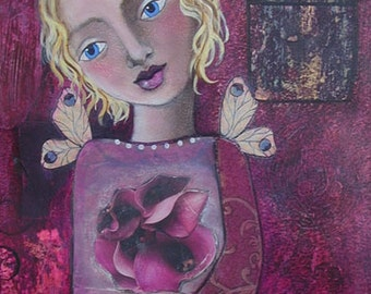 Art-aissance-print of an original mixed-media collage painting